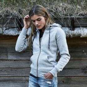 Sweat-shirt Femme Zippé à Capuche Mode Tee Jays 5436