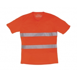 T-Shirt col V Fluo Unisexe Super Léger Yoko HVJ910