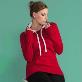 Sweatshirt Capuche Contrasté pour Femme SG SG24F