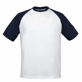T-shirt bicolore B&C Base-ball Tee TU020 B&C Collection TU020