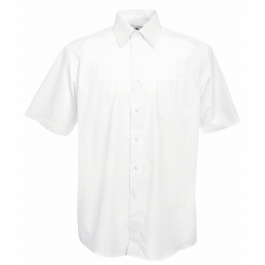 Poplin Shirt Short Sleeve Fruit of the Loom 65-116-0